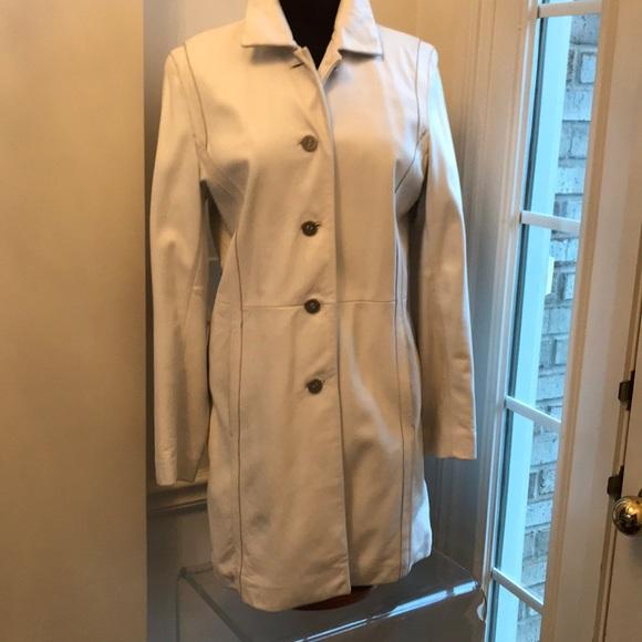 Venus Williams leather coat